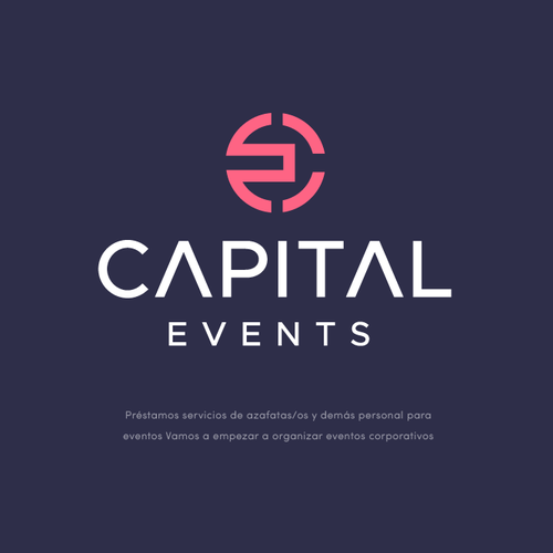 Pink logo with the title 'CAPITAL EVENTS'