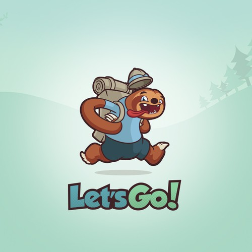 Wildlife design with the title 'Let's Go'