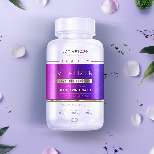 Vibrant packaging with the title 'NATIVELASH'