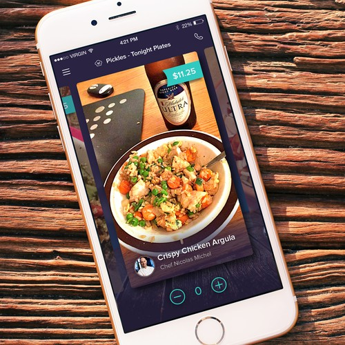 Order design with the title 'Restaurant Mobile App Design '