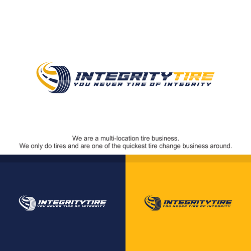 Tire design with the title 'INTEGRITY TIRE'