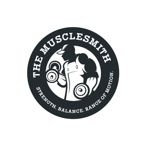 Personal training logo with the title 'Design a Logo for the Musclesmith'
