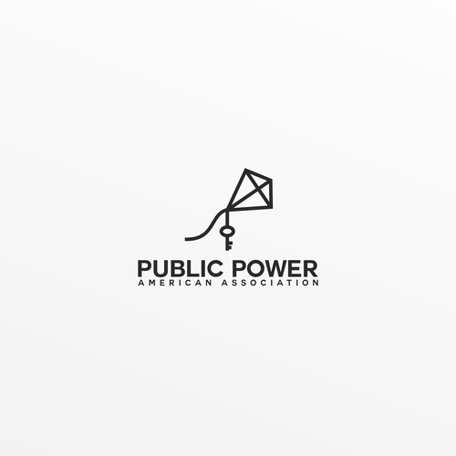 Linear design with the title 'Public power american association'
