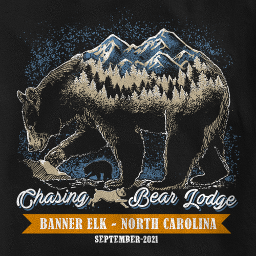 Lodge design with the title 'Father's Day Lodge T-shirt'