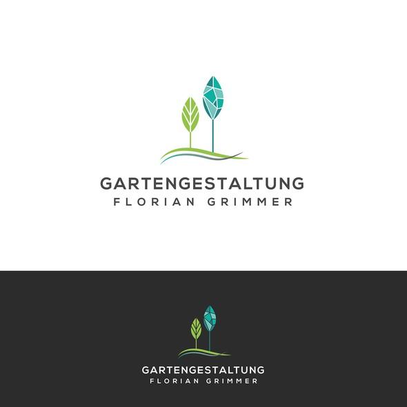 Gardener logo with the title 'Logo concept for a gardener'