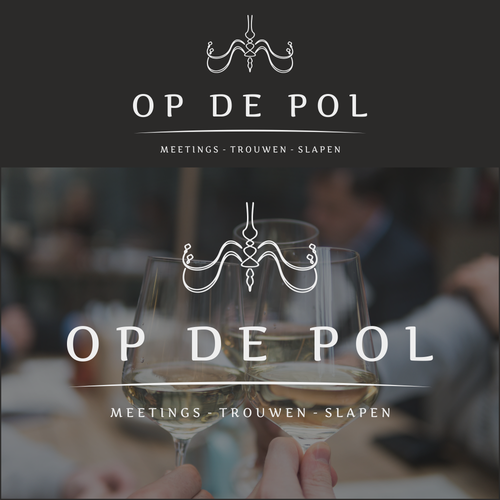 Venue logo with the title 'Logo proposal for Op de Pol'