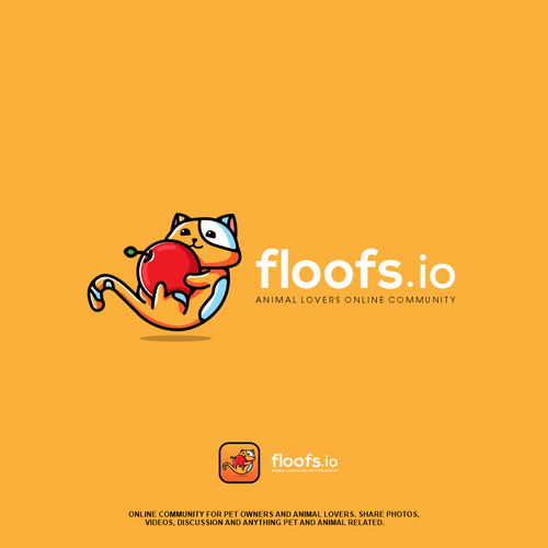 Kitten logo with the title 'Floofs.io'