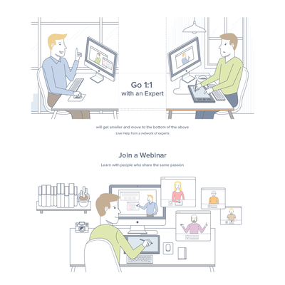 Illustration for Instawize Website