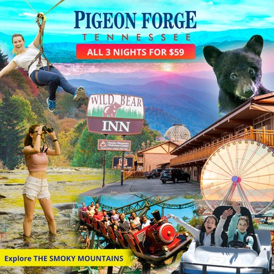 Creative Facebook ad for Pigeon Forge