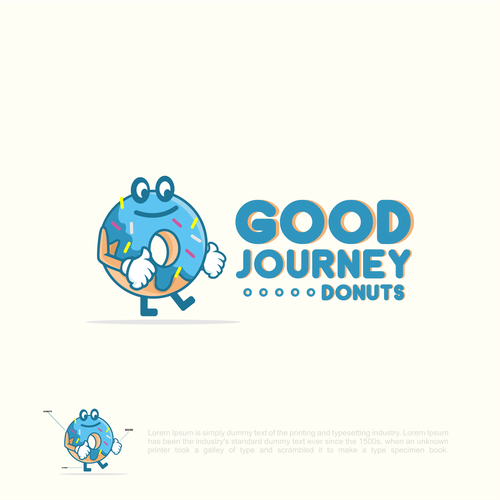 Donut design with the title 'Good Journey Donuts'