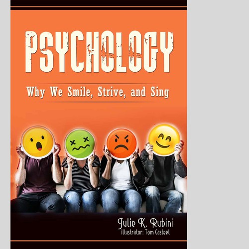 Happy book cover with the title 'Psychology Book cover'