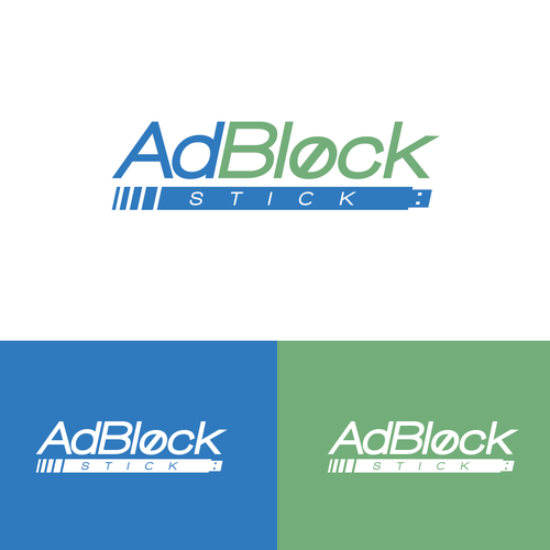 Block logo with the title 'Brand for AdBlock Stick'