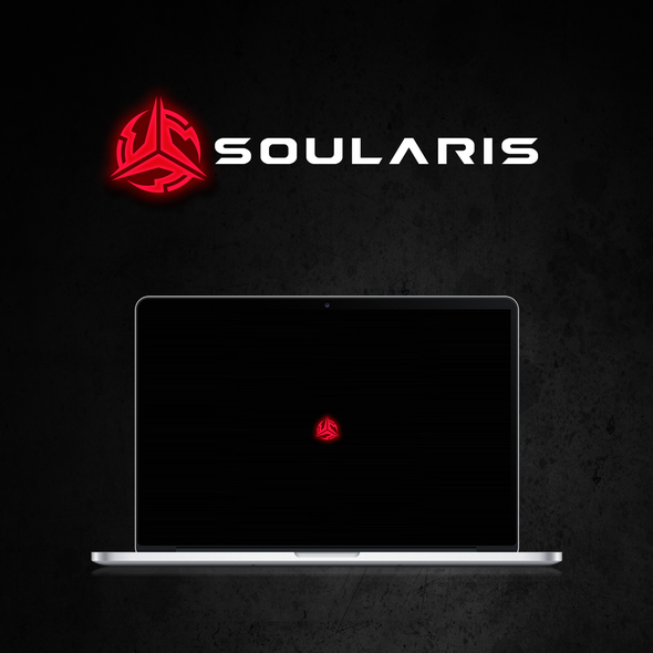 Gaming logo with the title 'Soularis - slick logo for a new gaming brand'