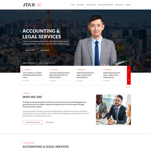 Legal design with the title 'JTAX (Japan Tax Group) '