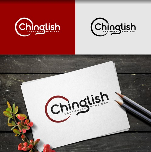 Chinese logo with the title 'Chinglish Food'