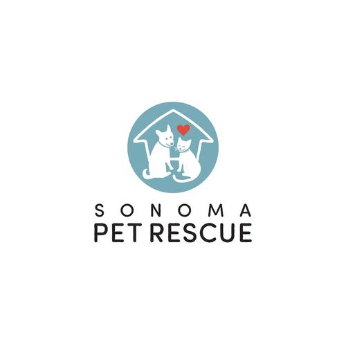 Rescue logo with the title 'Logo for non-profit Animal Rescue. '