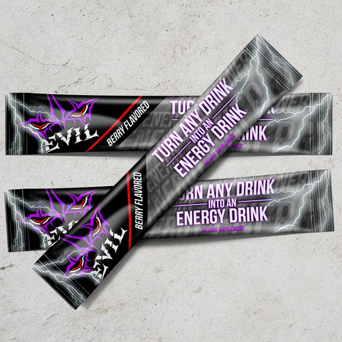 Energy label with the title 'Packaging Energy Drink'