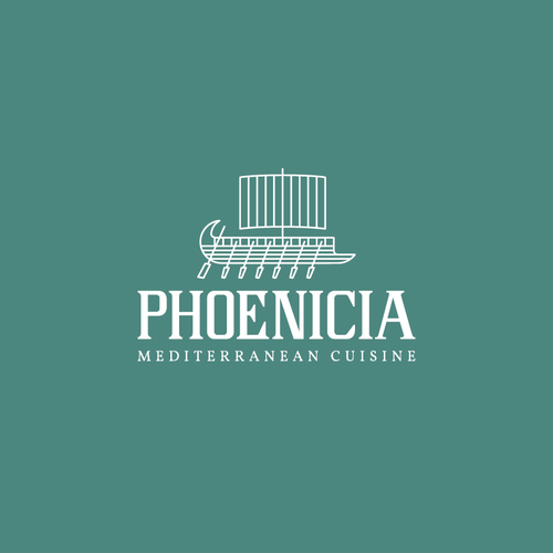 Boat logo with the title 'Phonecia Logo'