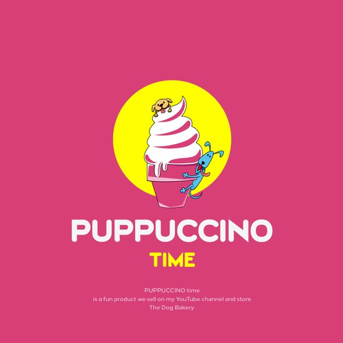 Rottweiler logo with the title 'Puppuccino time'