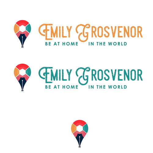 Travel brand with the title 'Vintage personal logo for travel writer.'