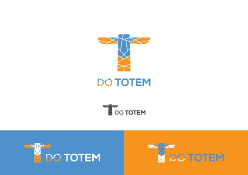 Totem logo with the title 'DO something Different: A logo for an up and coming company Totem, that makes doers out of people.'