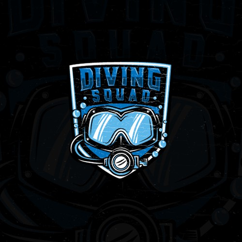 Edgy logo with the title 'Bold logo for Scuba Diving website.'