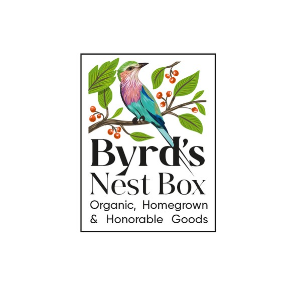 Organic logo with the title 'Byrd's Nest Box Logo'