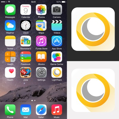 Icon design for the LightTrack application