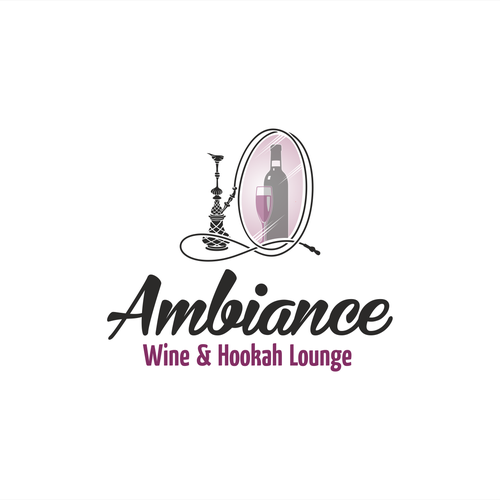 Lounge logo with the title 'logo for Wine and Hookah bar'