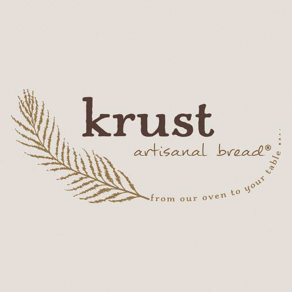 Oven logo with the title 'krust artisanal bread logo'