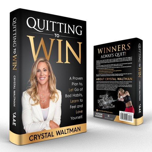 Leadership book cover with the title 'Quitting to Win'