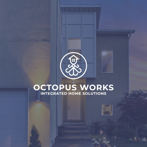 Integration logo with the title 'Logo concept for Octopus Work'