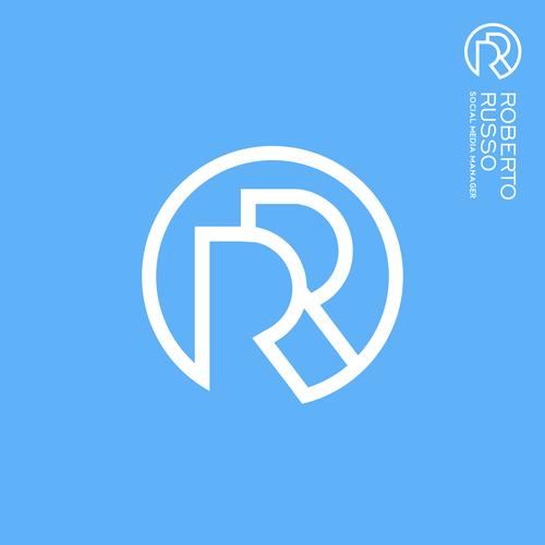 Monogram logo with the title 'Monogram RR logo | Initials logo | Personal Logo | Robert Russo'