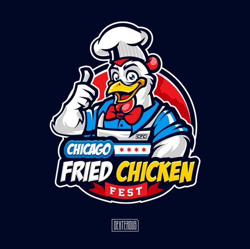 Logo with the title 'Chicago Fried Chicken Fest'
