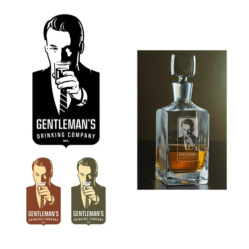 Drinking logo with the title 'Gentleman's Drinking Co. logo'