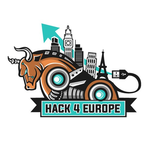 European design with the title 'Are you ready to create a mascot or a logo for our hackathon?'
