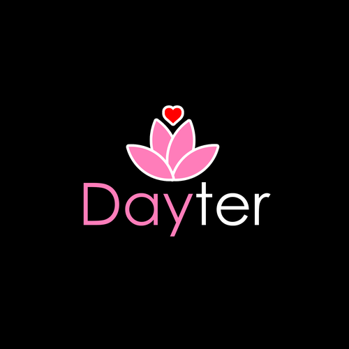 Flirty design with the title 'Logo for dating app '