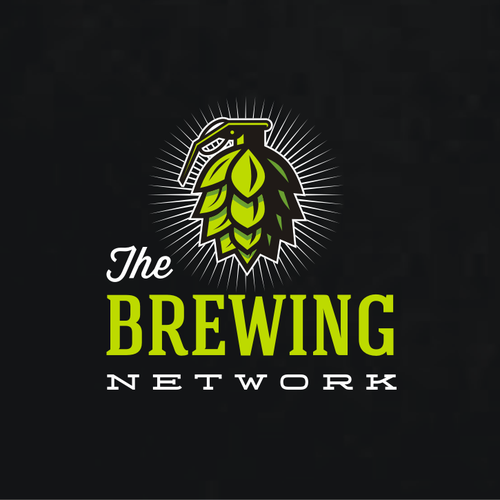 Distillery logo with the title 'Re-design current brand for growing Craft Beer marketing company'