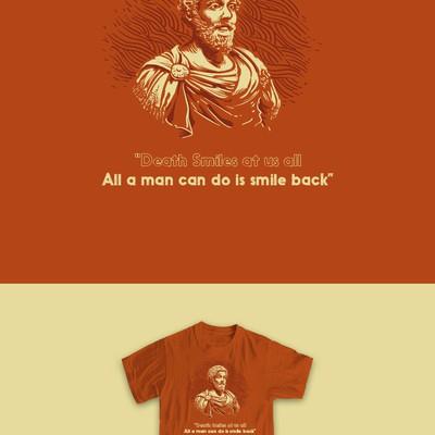 t-shirt design-themed stoic