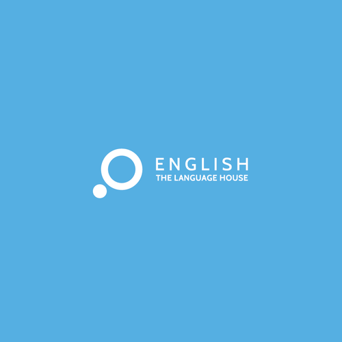 Language design with the title 'English - The Language House'