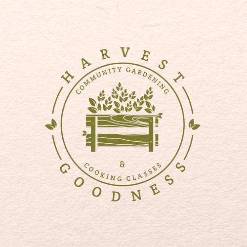 Harvest design with the title 'Logo design for Harvest Goodness'