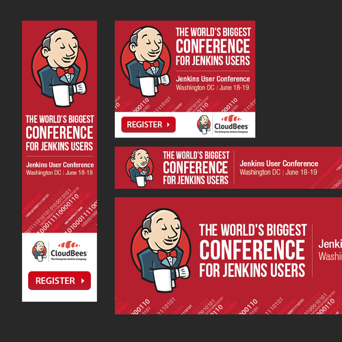 Conference design with the title 'Create Web Banners Ads for User Conference'