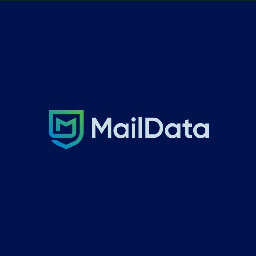 Email logo with the title 'MailData Logo'
