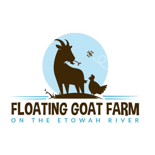 Goat design with the title 'Goat farm logo'