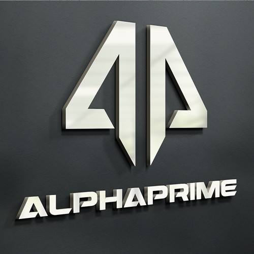 Athletic logo with the title 'AlphaPrime Logo'