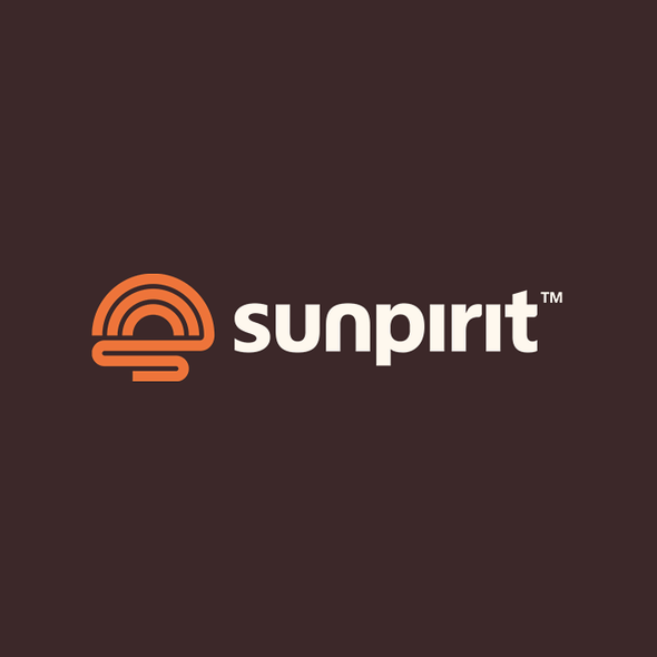 Outdoor logo with the title 'Enduring logo for a Sun inspired outdoor brand'