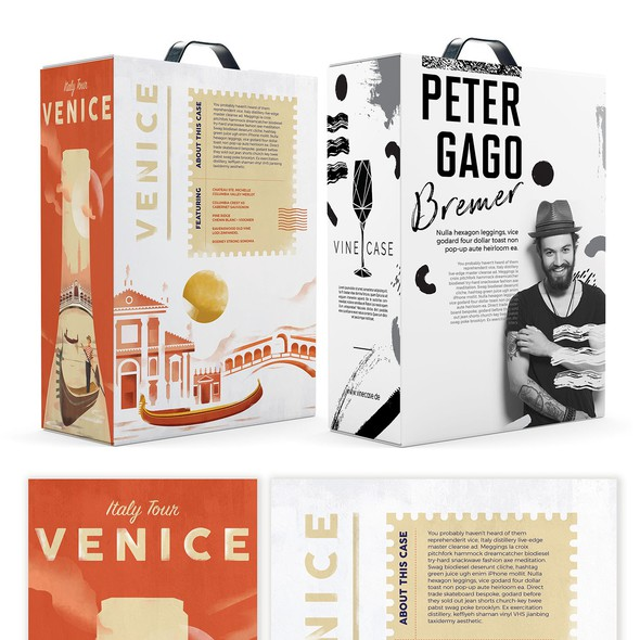 Wine label artwork with the title 'Vinecase '