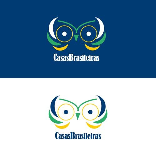 Bikini design with the title 'Casas Brasileiras'