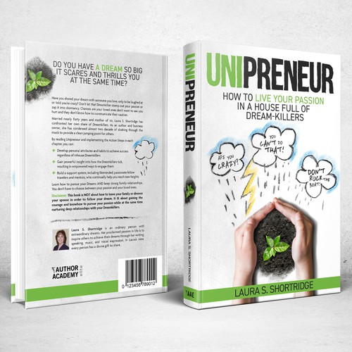 Cloud design with the title 'Book cover design for Unipreneur: How to Live Your Passion in a House Full of Dream-Killers'