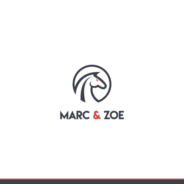 Horse logo with the title 'Classic yet sporty logo for sport accessories'